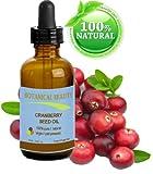 Preiselbeersamenöl 100% Pure / Natural. Kaltgepresste / unverwässerte. Für Gesicht, Haare und Körper - 15 ml.