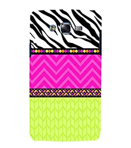 Samsung Galaxy J5 (2015) :: Samsung Galaxy J5 Duos (2015 Model) :: Samsung Galaxy J5 J500F :: Samsung Galaxy J5 J500Fn J500G J500Y J500M black and white design pink zigzag line yellow pattern Designer Printed High Quality Smooth hard plastic Protective Mobile Case Back Pouch Cover by Paresha