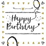 Happy Birthday: TypoArt Geschenkbuch, voll mit Glück zum Geburtstag.