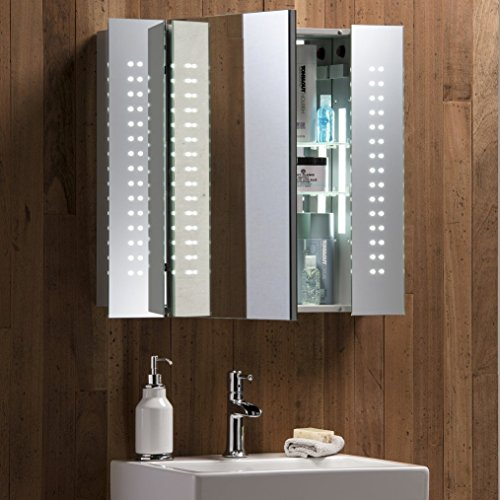 Neue Design Illuminated Bathroom Mirror Cabinet With Concealed Demister Shaver Socket Amp Sensor