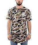 Phoenix Allstar Oversize T-Shirt Herren Longshirt Mit 09 Print Longline Tee Langes Shirt Camo Desert Camouflage - L