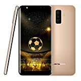 Mobile Phones,LEAGOO M9-Quad Camera 5.5 inch 18:9 Large Display Smartphone,0.1 second Fingerprint Unlock,Android 7.0 Quad Core 2G RAM+16G ROM Cell Phones From Leagoo Direct(Gold)