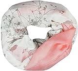 Mevina Loop Schal mit Baum und Vogel Muster Farbverlauf Baum des Lebens Druck Schlauchschal Rundschal Rosa T2478