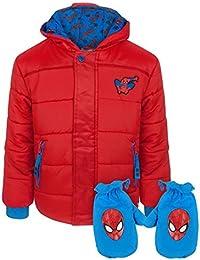 Spiderman Spider-Man Boy's Red Coat and Mittens Set