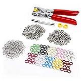 *Versand aus Deutschland* 100 Set 10 Farben Druckknopf Druckknöpfe Open Ring & Zange Werkzeug DIY Basteln