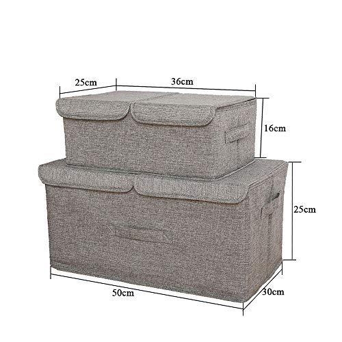 TOSBTD Cajas Almacenamiento Tapas Paquete 2, Hoja