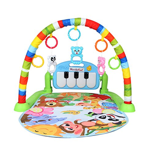 WonderKart Kick And Play Musical Piano Gym With Hanging Toys - Color/Print May Vary