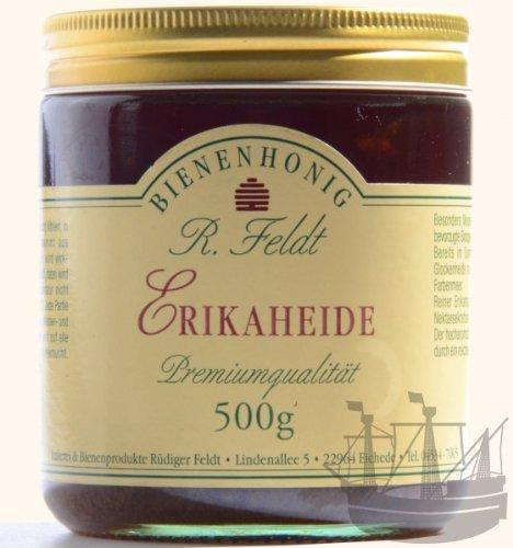 Erikaheide Honig, dunkel, hocharomatisch, kaltgeschleudert, unfiltriert, 500g -