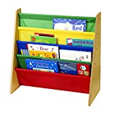 KiddyPlay Wooden Book Storage Rack - Primary Colours