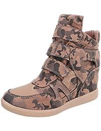 Damen Freizeitschuhe/Wedge Sneakers/Damenschuhe/Versteckter Keilabsatz/Freizeitschuhe/Schwarz, EU 37