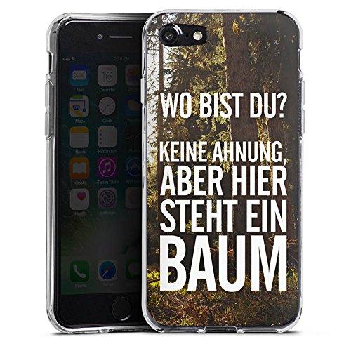 Apple iPhone X Silikon Hülle Case Schutzhülle Sprüche Humor Spruch Silikon Case transparent