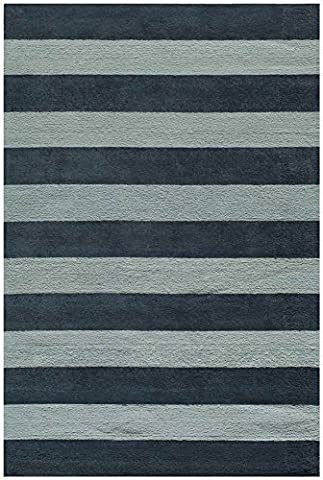 Rectangular Kids Area Rug in Blue (5 ft. L x 3 ft. W) by Momeni