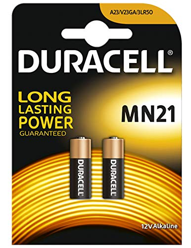 Duracell Alkaline-mangaan-Batterijen voor autosicherheitsalarm en autosleutels, 23A, 23AE, A 23, V23GA, mn21, lrv08, 12V, 2stuks