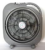 K&B Vertrieb Tischventilator grau Windmaschine Tisch-Ventilator verschiedene Geschwindigkeitsstufen Ventilator