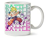 Battle | Dragon Ball | Dbz | Goku | Frieza | Anime Series | Superhero | Figure | Power | Simple | Shape Taza Para Café Y Té