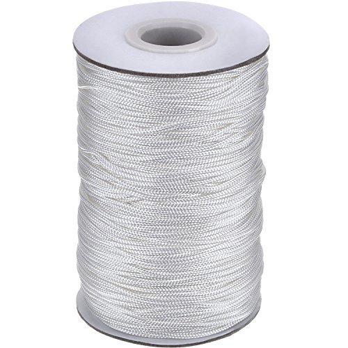Hängen Roman Blind (109 Yards/ Roll Weiß Geflochtene Lift Shade Schnur für Aluminium Blind Shade, Gartenbau und Handwerk (1,4 mm))