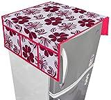 Nisol Cotton Shalil Flowers Designer Refrigerator / Fridge Top Cover