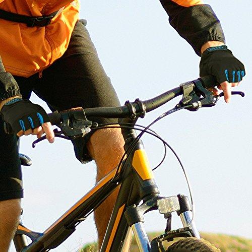 INTEY FahrradhandschuheTouchscreen kompatibel Vollfinger und Halbfinger für Radsport mit Lycra, 2 Paar (M) - 5