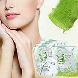 Aloe Maske - Gesicht Feuchtigkeitspflege Aloe Vera Gel Ultradünnes Gesichtsmaske 10 Stück