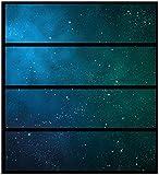 Wallario Möbelfolie/Aufkleber, geeignet für IKEA Malm Kommode - Sternenhimmel - Milchstraße und Sterne bei Nacht mit 4 Schubfächern