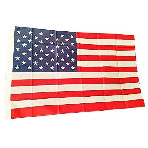 USA Drapeau américain avec étoiles et rayures lavable en machine 150 cm x 90 cm