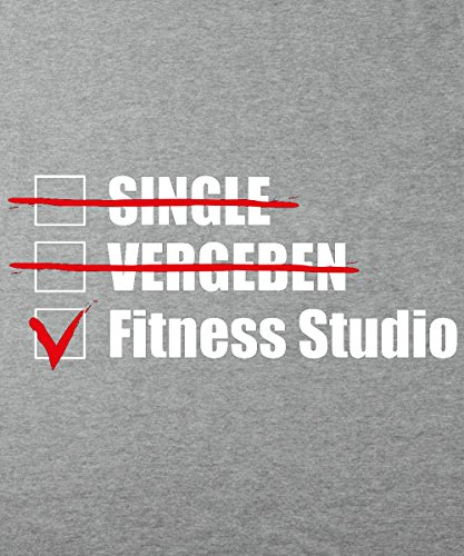 -- Single, Vergeben, Fitness Studio! -- Girls Kapuzenpullover Sports Grey