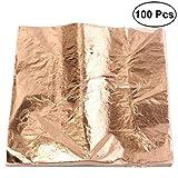 para dorar 24 quilates en base 10 x hoja de oro 45 x 45mm