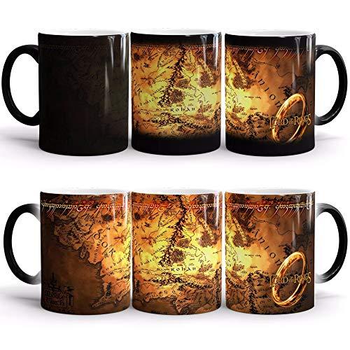 EASTVAPS Seigneur des Anneaux Lord of The Rings Mug Couleur Tasses d'anime entourant Les Amateurs de céramique Tasse à café de Lait