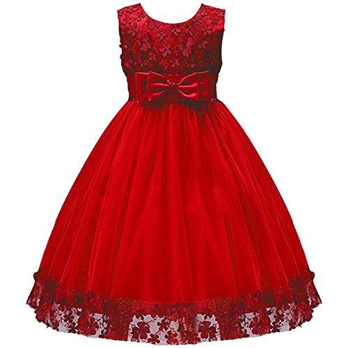 Mädchen Kinder Mit Kleider Blumenmädchenkleider Hochzeitskleid Festlich Brautjungfern Kleid...