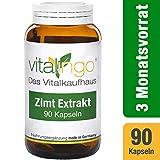Estratto di Cannella capsule di vitalingo - 90 capsule á 375mg - 200mg 10:1 Estratto di Cannella et 100mg vitamina C