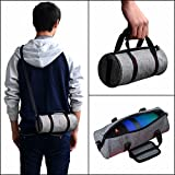 Meijunter Tragbar Hand Hülle Tasche Beutel tragen Case Cover Bag Box Pouch Rucksack Umhängetasche für JBL Pulse 2 /Pulse 3 BL Charge 3 Logitech UE Megaboom Bluetooth Lautsprecher/Makeup Purse Phone Gray