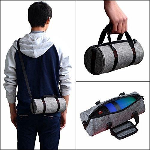 Meijunter Tragbar Hand Hülle Tasche Beutel tragen Case Cover Bag Box Pouch Rucksack Umhängetasche für JBL Pulse 2 /Pulse 3 BL Charge 3 Logitech UE Megaboom Bluetooth Lautsprecher/Makeup Purse Phone Gray