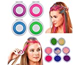 #6: Krevia New Hot Huez Temporary Hair Chalk Set of 4 Colors Hues Of Temporary Compact Chalks
