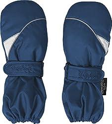 Playshoes Kinder Fäustlinge mit Thinsulate-Technik und und langem Schaft warme Winter-Handschuhe mit Klettverschluss, marine, 2