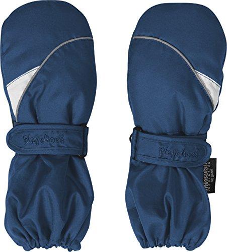 Playshoes Kinder Fäustlinge mit Thinsulate-Technik, warme Winter-Handschuhe mit Klettverschluss