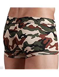 Camouflage Military Mens Army Brown and Green Boxer Short Trunks