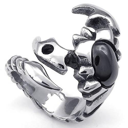 Beydodo Moderschmuck Edelstahlring für Männer Skorpion Zirkonia Silberringe Ringgröße62 (19.7) Ratschenschlüssel-satz Verwendet