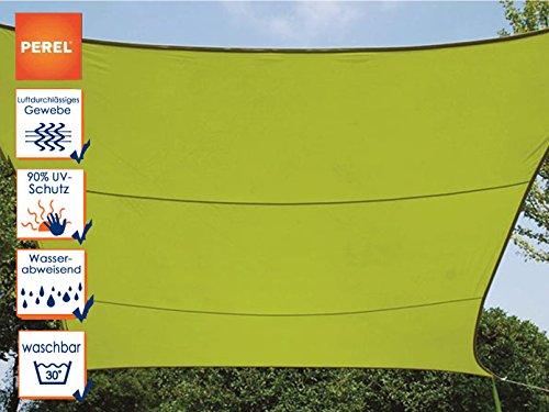 Perel GSS4430LG Sonnensegel-Rechteckig, Lime Grün, 400 x 300 x 0,2 cm