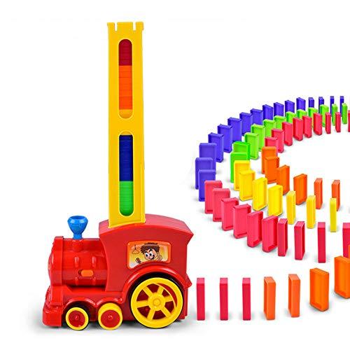 Tren eléctrico Domino de Inteligencia para niños, Tren eléctrico con ajedrez de péndulo automático acauusto-óptico, Juego de Tren eléctrico Dominoes Rally