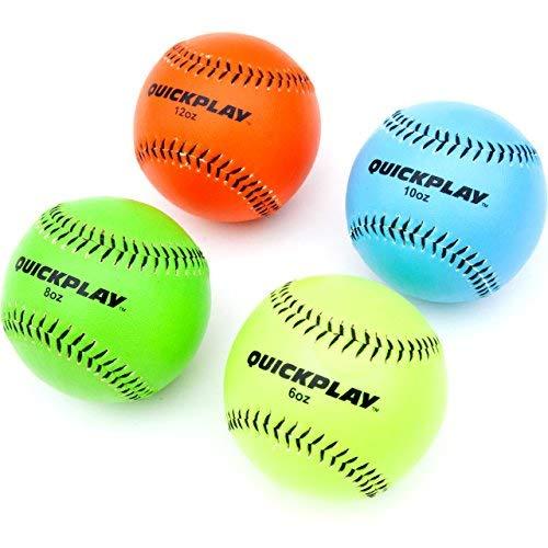 Quick Play Gewichteter Basebälle Set von 4(6oz, 8oz, 10oz, 12oz)   Weighted Training Baseball/Gewichteter Pitching Bälle für & Pitching Training-2Jahre Garantie-Neue für 2018- -