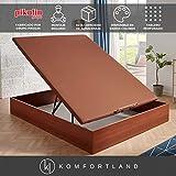 Canapé abatible MagicBox Medida 135x190 cm Color Cerezo (con montaje incluido)