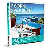 smartbox - Cofanetto Regalo - 3 Giorni Spa e Gusto - Idee Regalo - 2 Notti con Colazione, 1 Cena e 1 Percorso Benessere per 2 Persone