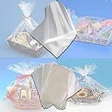 Palucart® 25 Fogli cellophane Trasparente per Confezioni 100 x 130 Carta cesti Trasparente