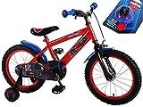 Kinderfahrrad Ultimate Spider-Man 16 Zoll mit Rücktrittbremse und Fahrradklingel