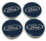 Set di 4 Coprimozzi per cerchi ruote in lega Ford dimensioni da 60mm