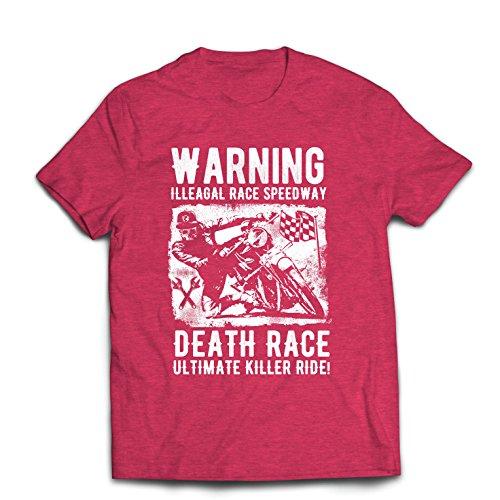 Maglietta da Uomo la Corsa alla Morte - L'Ultimo Killer Ride, Motociclismo, Motociclista, Classico - Vintage - Moto retrò (XX-Large Erica Rossa