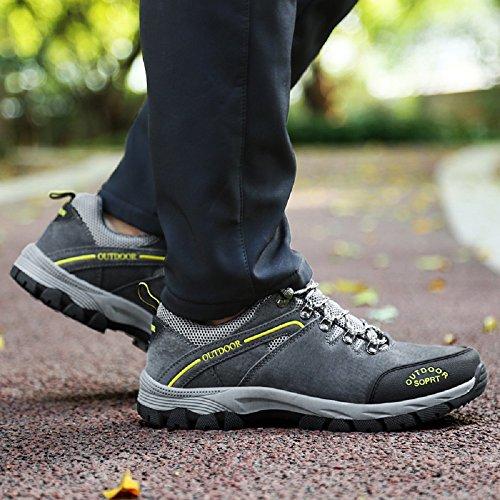 JOYTO Uomo Scarpe da Escursionismo Arrampicata Trekking Sportive All'aperto Camminata Grigio Marrone Army Green 39-48 Grigio