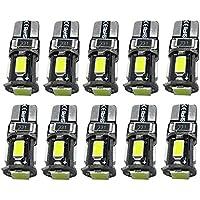 AOLVO 10 X T10 LED Birne, 5630 SMD Canbus Weiß Xenon Parklicht Standlicht, DRL Lampe Replacement Auto Glühbirne