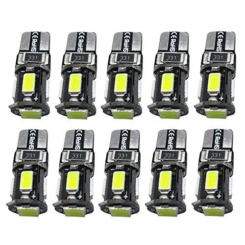 Preisvergleich Produktbild AOLVO 10 X T10 LED Birne,  5630 SMD Canbus Weiß Xenon Parklicht Standlicht,  DRL Lampe Replacement Auto Glühbirne