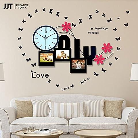 YANYANGXIN Moderne bunte stummer Wanduhr Home Office Decor Geschenk für Küche Wohnzimmer Schlafzimmer Photoframe Uhren/20 Zoll/single Wanduhr